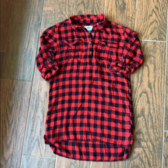Old Navy Other - OLD NAVY Girls Buffalo Check Flannel Dress